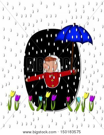 Alphabet Children April Showers O