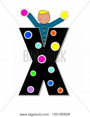 Alphabet Children Decorating Letters X