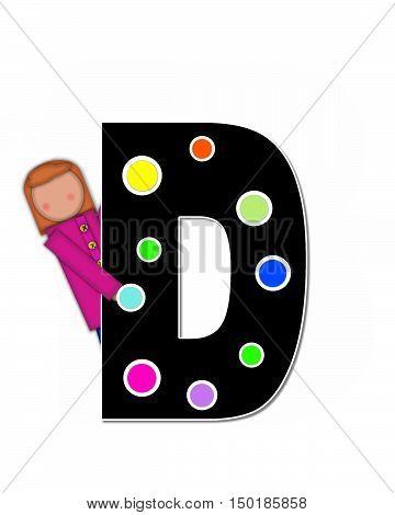Alphabet Children Decorating Letters D