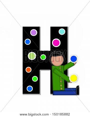 Alphabet Children Decorating Letters H
