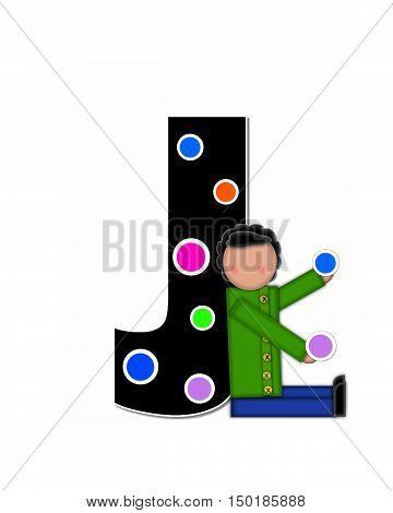 Alphabet Children Decorating Letters J