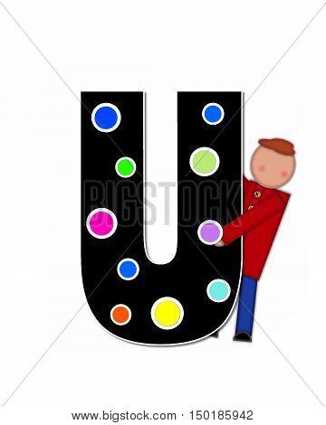 Alphabet Children Decorating Letters U
