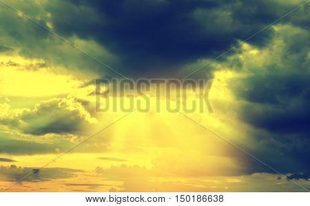 sun rays and cloud background god light
