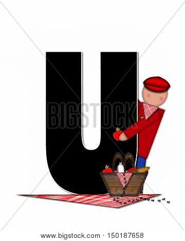Alphabet Children Picnic U