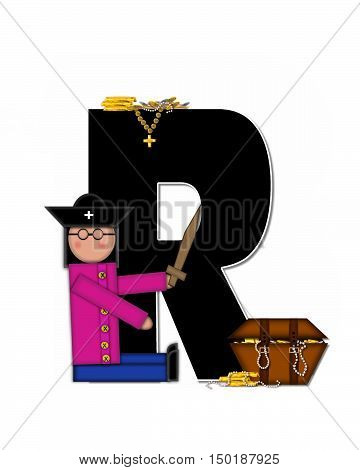 Alphabet Children Pirates R