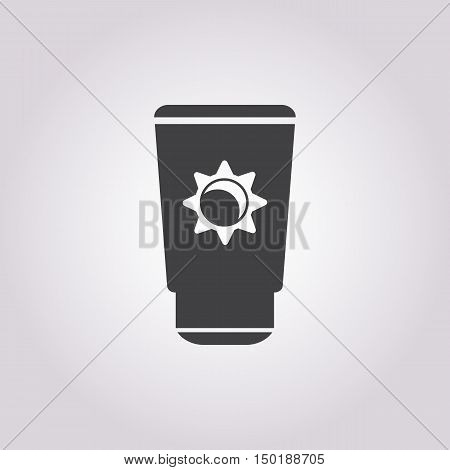 sunblock cream icon on white background for web