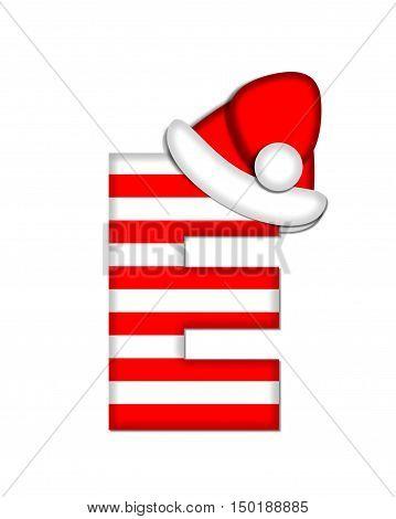 Alphabet Christmas Candy Cane E