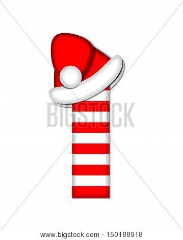 Alphabet Christmas Candy Cane I