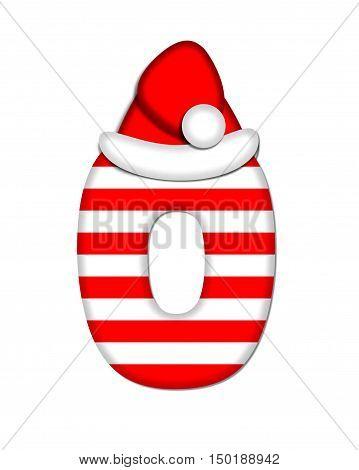 Alphabet Christmas Candy Cane O