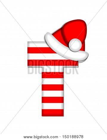 Alphabet Christmas Candy Cane T