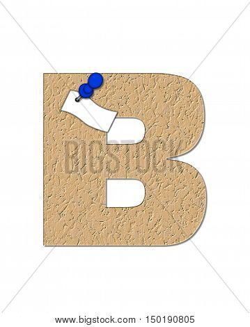 Alphabet Cork Board B