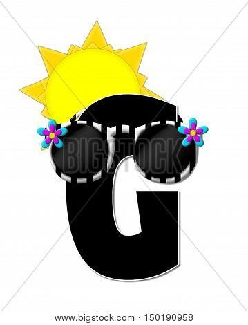 Alphabet Sun Shades G