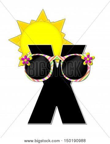 Alphabet Sun Shades X