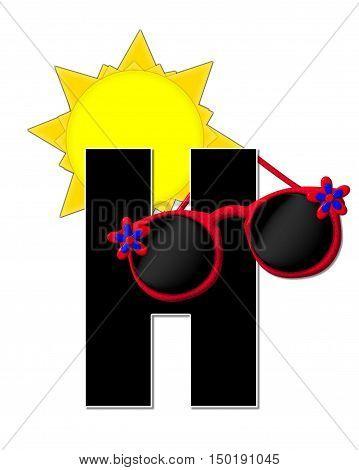 Alphabet Sun Shades H