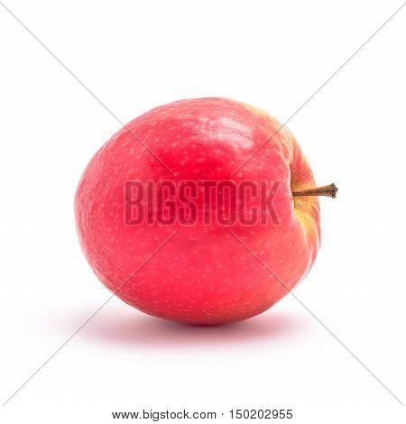 red apple fresh fruit studio isolated on white background