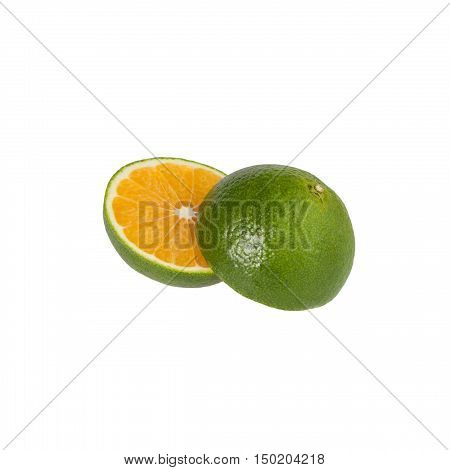 Sweetie two halves on a white background isolated