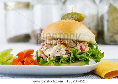 Lunch Time Tuna Salad Sandwich