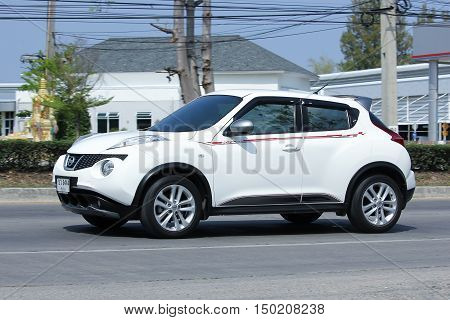 CHIANGMAI THAILAND -FEBRUARY 29 2016: Private car Nissan Juke. Photo at road no 121 about 8 km from downtown Chiangmai thailand.