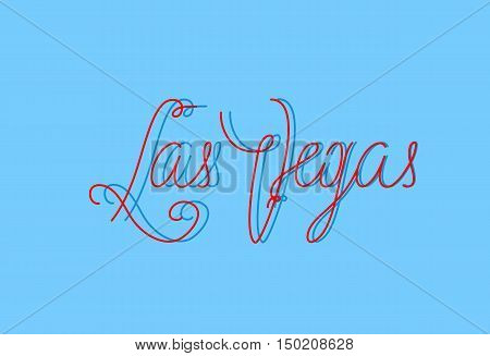Las Vegas one line lettering for different abilities