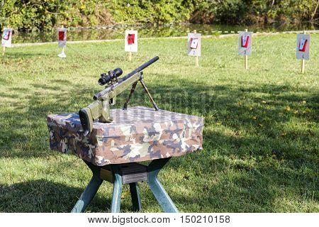 sniper rifle shooting range outdoor targets guns