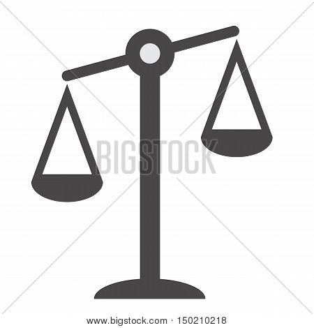 Pictograph of justice scales. Justice symbol sign