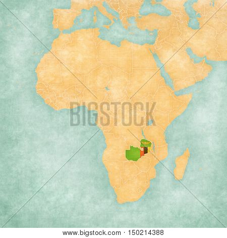Map Of Africa - Zambia