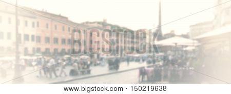 Rome Urban Blurred Background