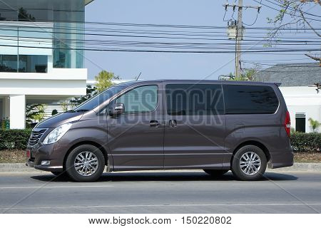 CHIANGMAI, THAILAND -MARCH 1 2016: Private van. Hyundai H-1,H1 Van from Korea. Photo at road no.1001 about 8 km from downtown Chiangmai, thailand.