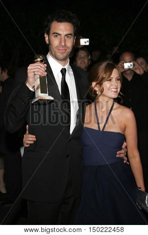 Sacha Baron Cohen and Isla Fisher at the Paramount Pictures' 2007 Golden Globe Award After-Party held at the Beverly Hilton Hotel in Beverly Hills, USA on January 15, 2007.