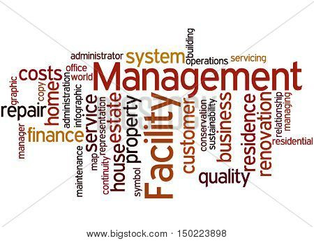 Facility Management, Word Cloud Concept 7