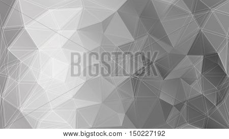 Poligonal triangle background. Monochrome geometric texture. Vector illustration EPS 10