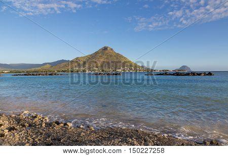 Shores Of Flic En Flac Overlooking Tourelle Du Tamarin Mauritius