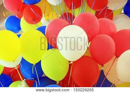 close up of the Colorful air balloons