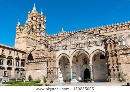 Detail of the huge cathedral in Palermo, Sicily