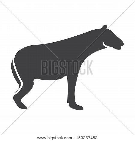 hyena black simple icon on white background for web design