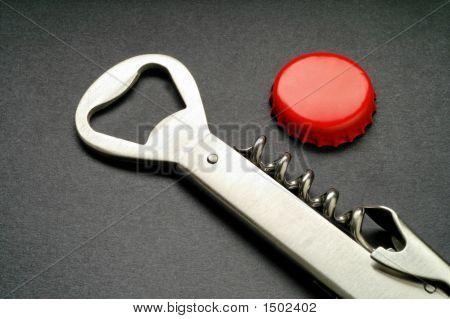 Steel Corkscrew And Bottle Opener (3)