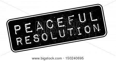 Peaceful Resolution Rubber Stamp