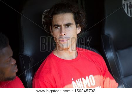 VALENCIA, SPAIN - OCTUBER 2nd: Tiago during Spanish soccer league match between Valencia CF and Atletico de Madrid at Mestalla Stadium on Octuber 2, 2016 in Valencia, Spain