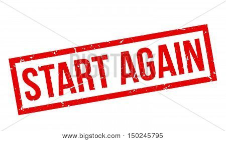Start Again Rubber Stamp