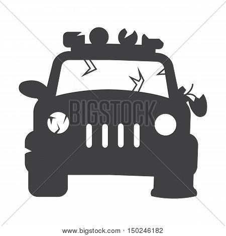 car repair black simple icon on white background for web design