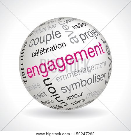 French Engagement Theme Sphere