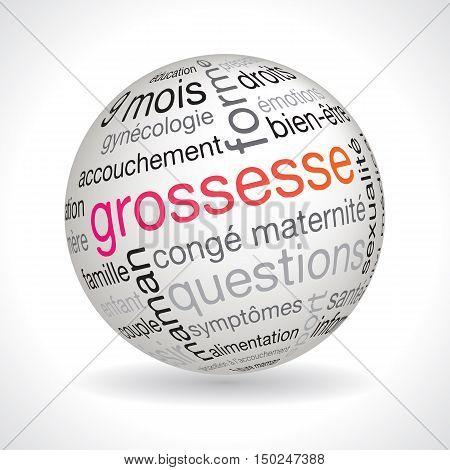 French Pregnancy Theme Sphere