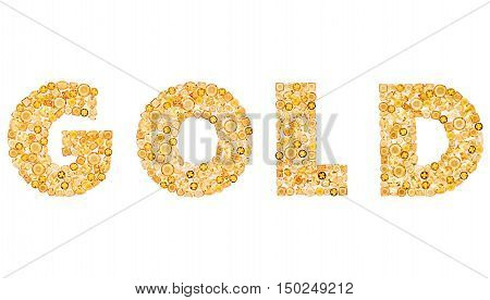 Fashion Design Gemstone. Word Gold Luxury Glamor Concept. Golden Mosaic Precious stones placer. Jewelry Party decoration. Celebration Shiny Holiday Art background. Rich Success Concept