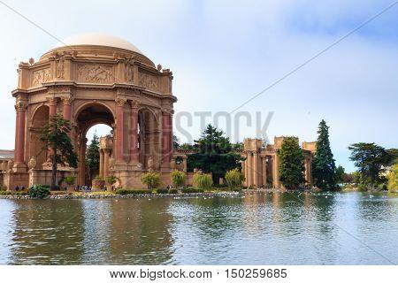Palace Of Fine Arts At San Francisco, California, Usa