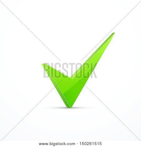 Green check mark . Vector illustration eps 10.