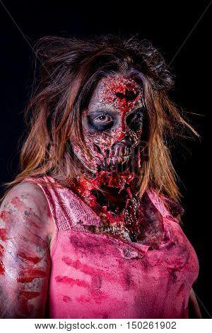 Zombie Woman Staring