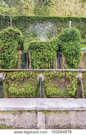The Hundred Fountains, Villa D'este, Tivoli, Italy