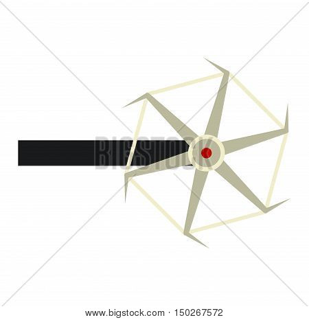 Agricultural machinery farm plug silhouettes vector illustration. Tractor crop machine farm plug industry tool. Vehicle ground equipment vector farm plug rural farming agricultural tractor.