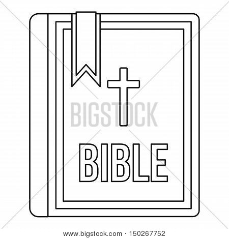 Bible icon in outline style on a white background vector illustration