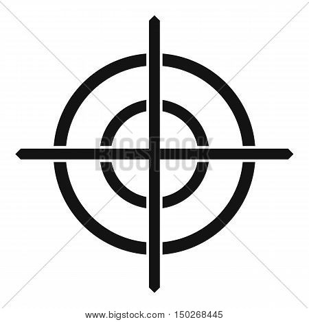 Target crosshair icon in simple style on a white background vector illustration